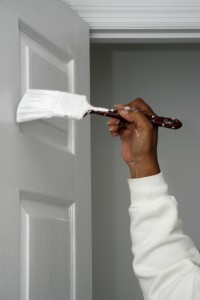 painting white doorway